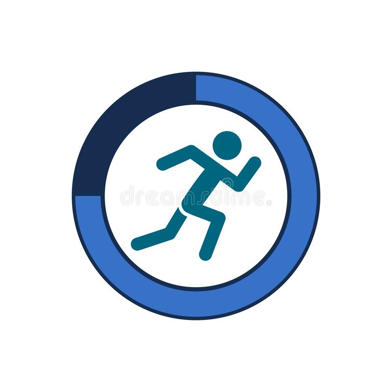 Fitness tracking app. On white background stock illustration