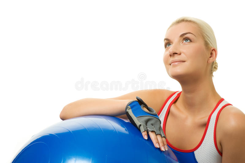Download Fitness trainer stock image. Image of aerobics, ball - 11618947