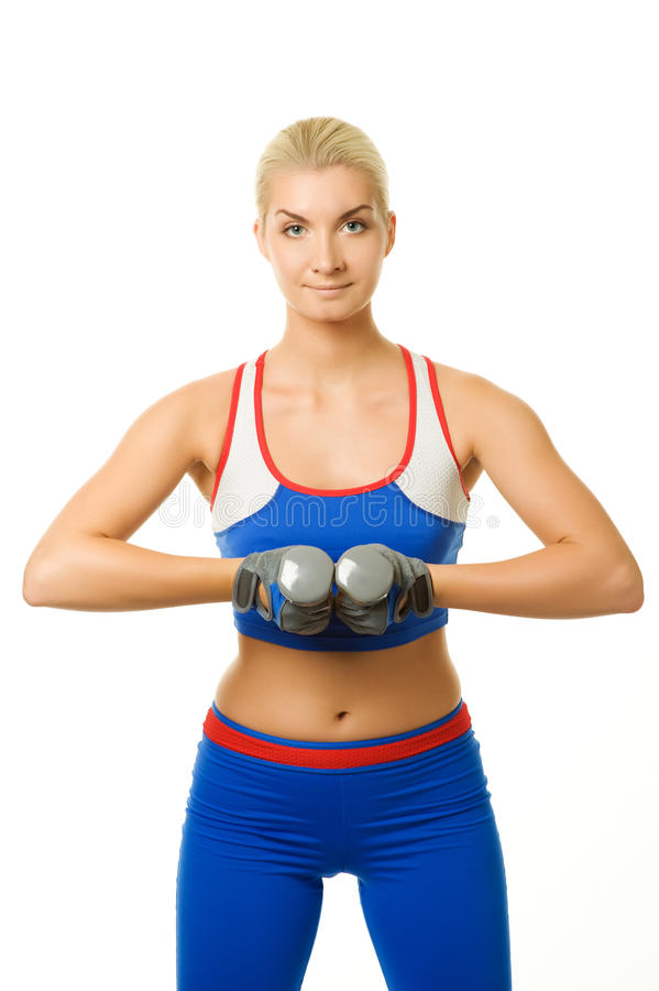 Download Fitness trainer stock image. Image of blue, arms, brassiere - 11618953