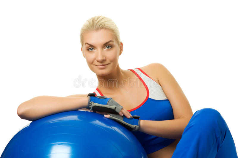 Download Fitness Trainer With A Ball Stock Photo - Image: 11523526