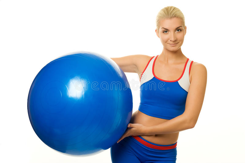 Download Fitness Trainer With A Ball Stock Image - Image: 11556267
