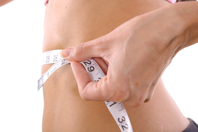 Fitness Trainer Measure Tape Stock Photos