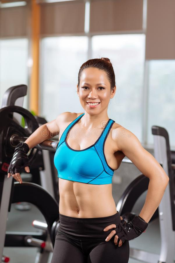 Fitness trainer stock photo