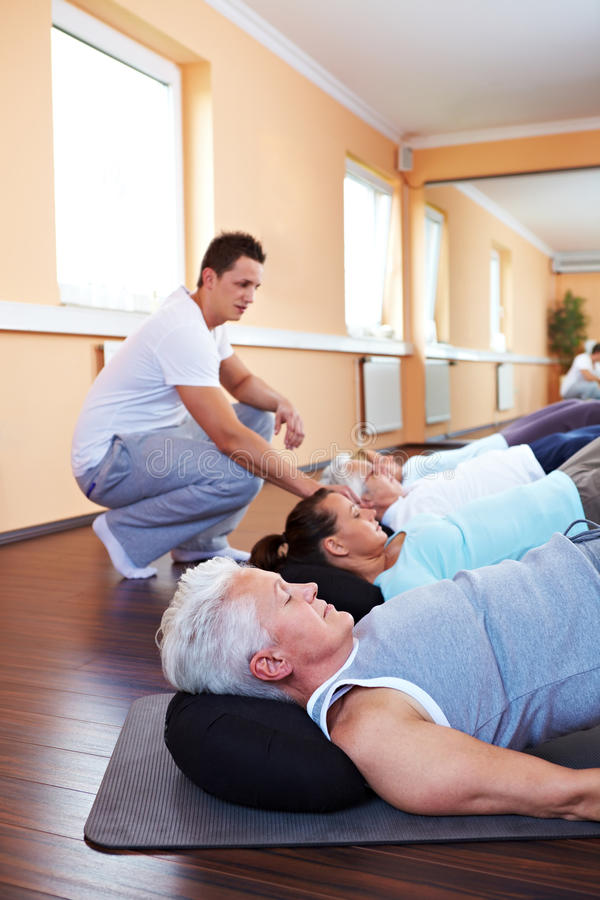 Download Fitness Trainer Showing Back Royalty Free Stock Photo - Image: 16932005