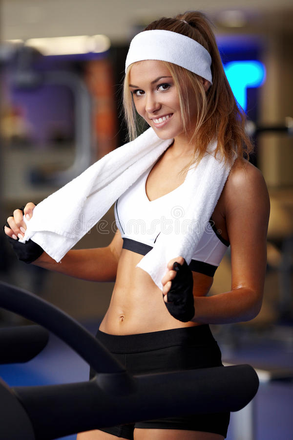 Download Fitness On A Treadmill Royalty Free Stock Image - Image: 34022916