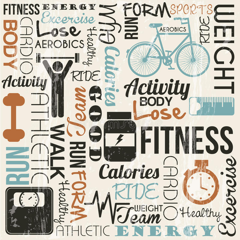 Fitness vector stock illustration