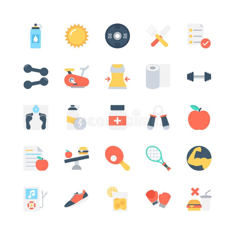 Fitness Vector Icons 2 vector illustration