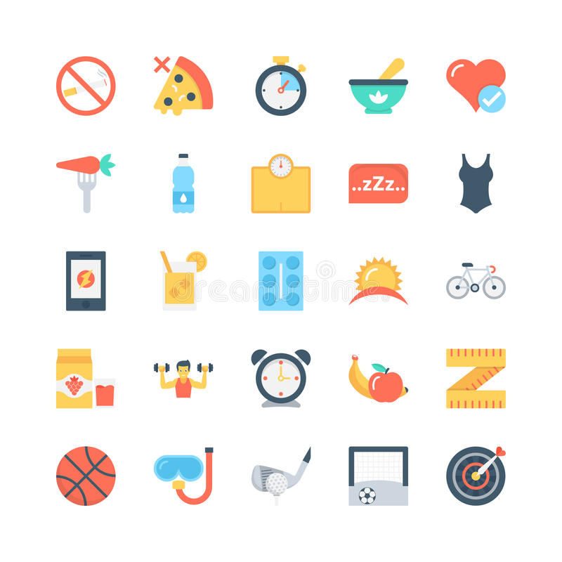Fitness Vector Icons 3 stock illustration