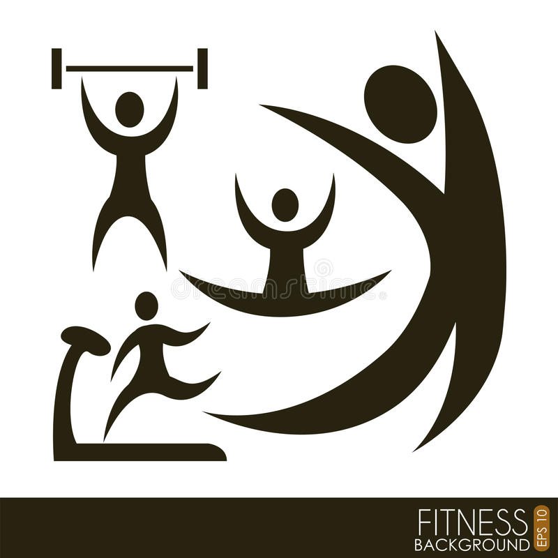Download Fitness vector stock vector. Image of athlete, signs - 30942466