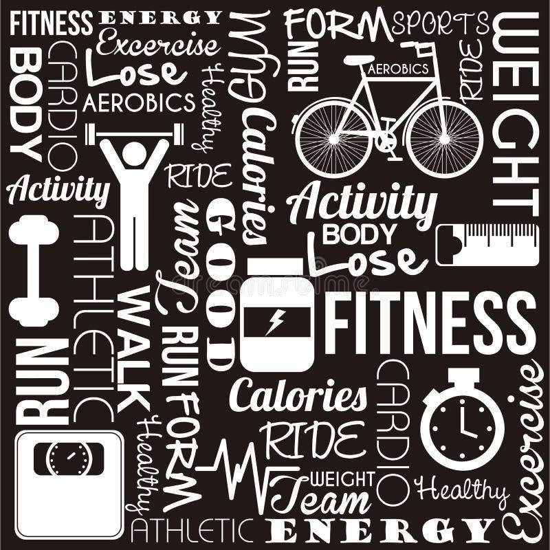 Fitness vector stock illustration