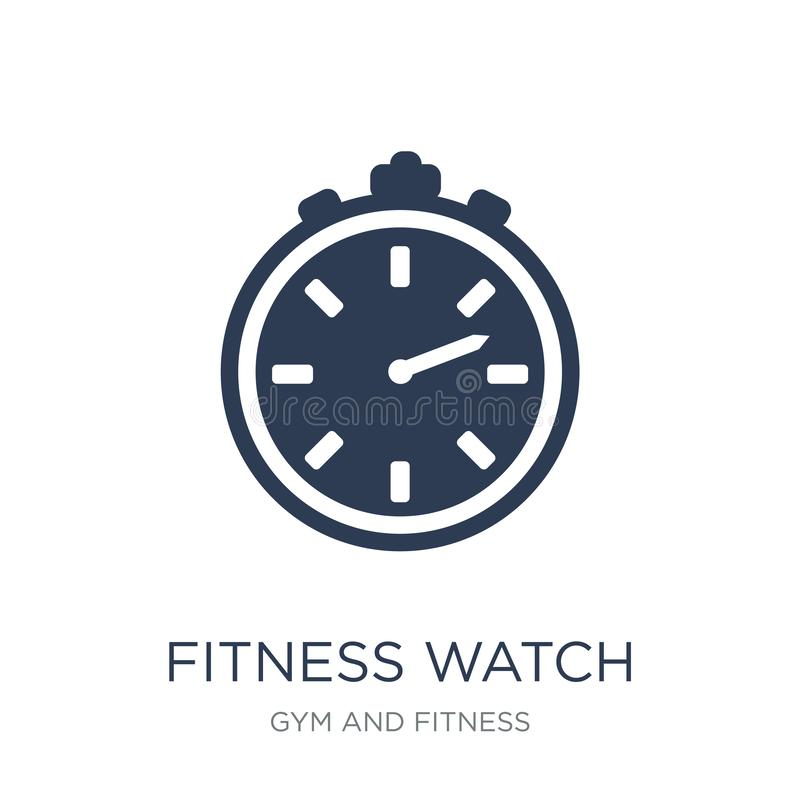 Fitness Watch icon. Trendy flat vector fitness Watch icon on white background from Gym and fitness collection. Vector illustration can be use for web and royalty free illustration