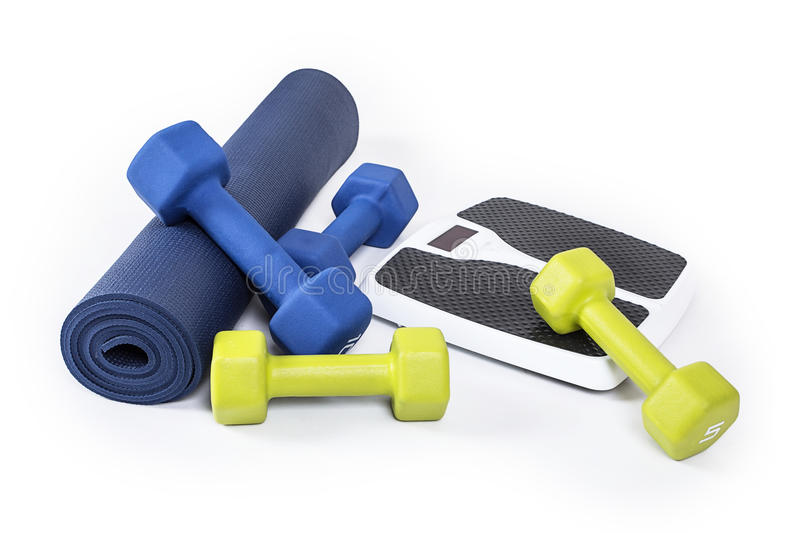 Fitness And Weight Loss Equipment Stock Image - Image ...