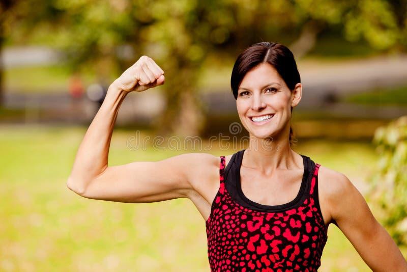Download Fitness Woman stock photo. Image of green, portrait, flex - 11663732
