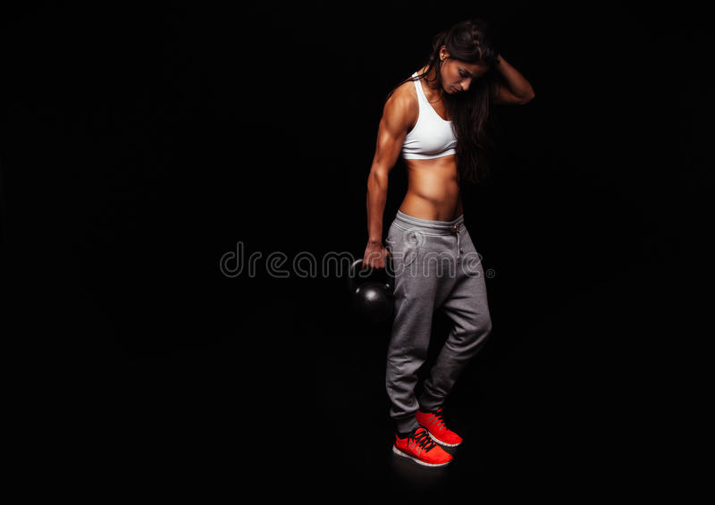 Fitness woman doing crossfit exercising royalty free stock photo