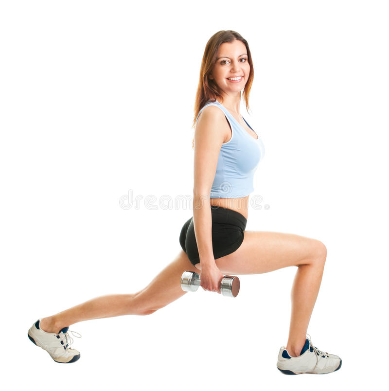 Download Fitness Woman Doing Lunge Exercise Stock Image - Image: 19060199