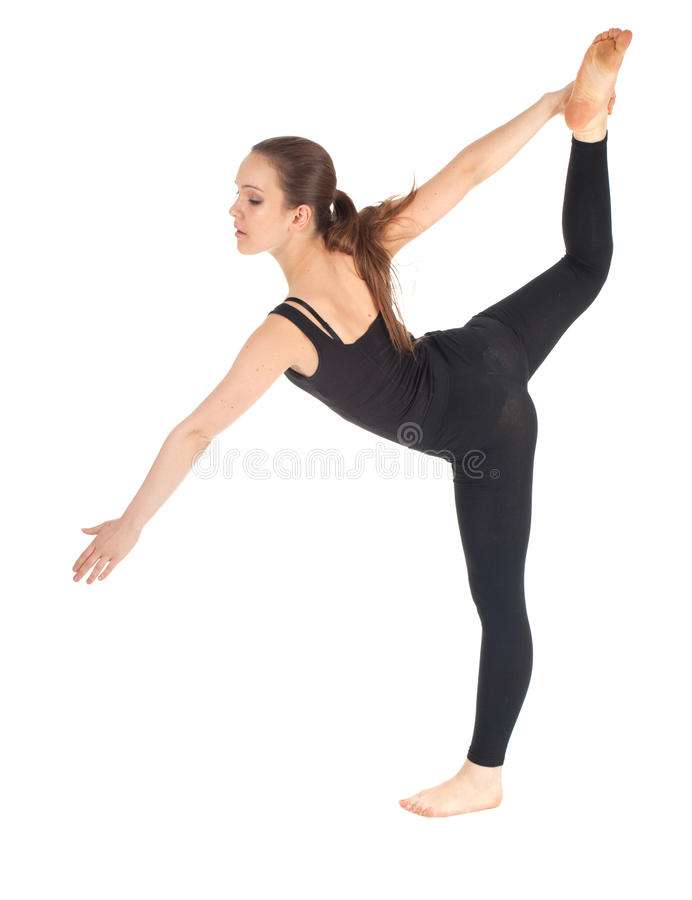 Download Fitness Woman Doing Stretching Exercise Stock Image - Image of action, energy: 18744099