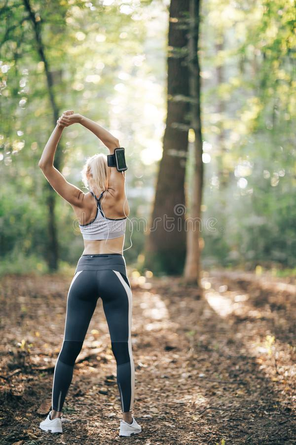 Workout outdoors. Healthy lifestyle royalty free stock photography