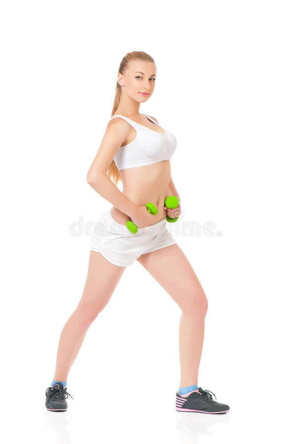 Download Fitness woman stock image. Image of healthy, diet, muscles - 38181663