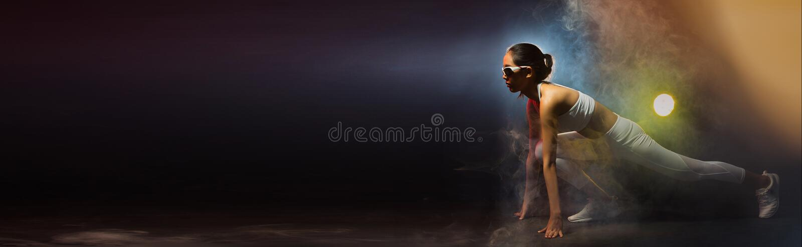 Fitness Woman, Girl Can do Strong stock photography