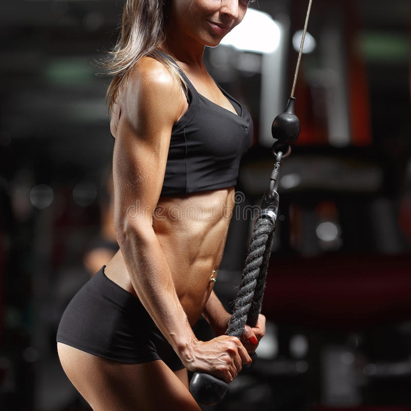 Fitness woman in the gym. royalty free stock images