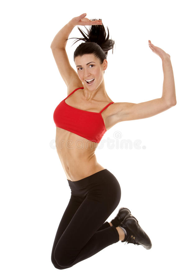 Download Fitness woman jumping stock photo. Image of activity - 28151026