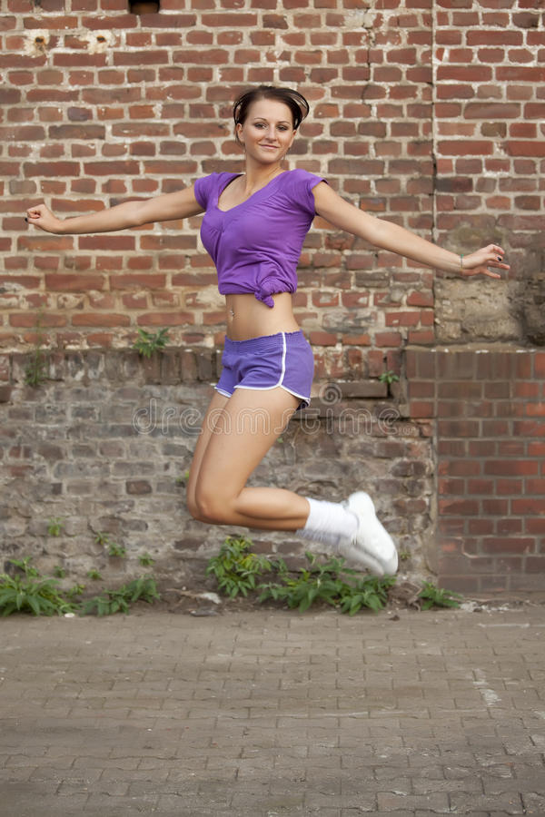 Download Fitness woman jumps stock image. Image of young, outdoor - 10599577