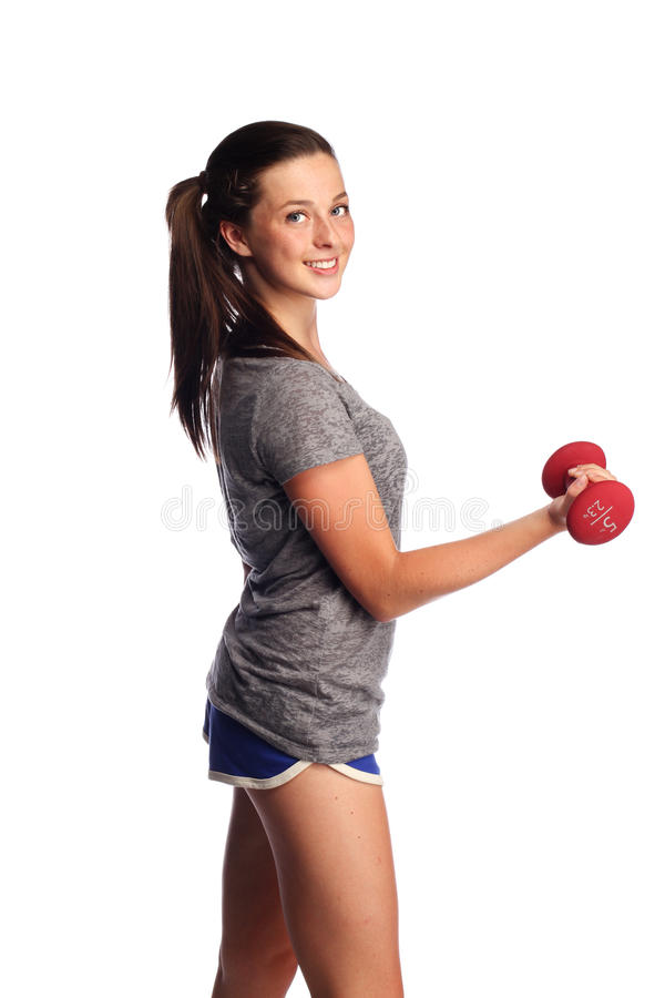 Fitness woman in park stock photo