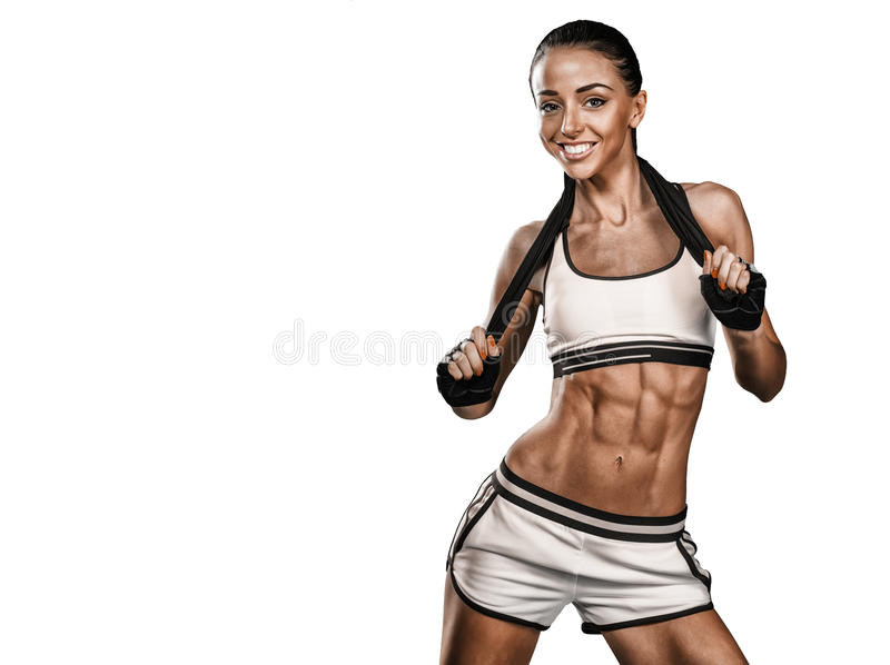 Download Fitness woman portrait stock photo. Image of girl, leisure - 54081994