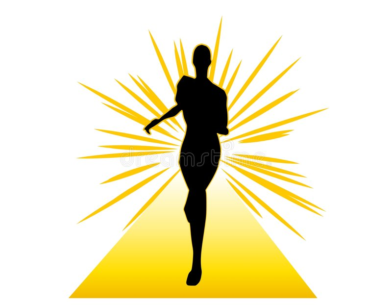 Too Thin Woman Anorexia Model Stock Illustration