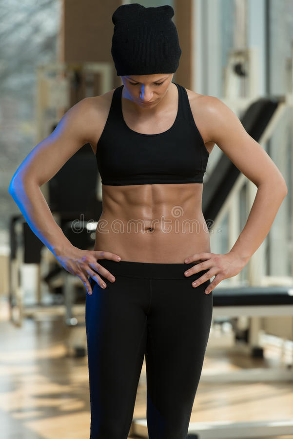Fitness Woman With Six Pack stock photography