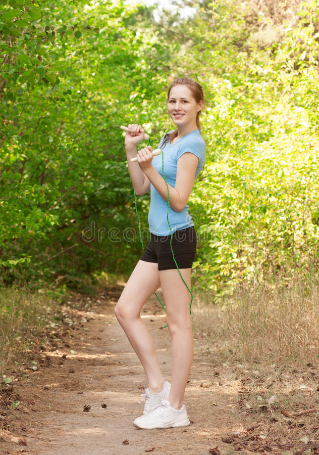 Download Fitness Woman With Skipping Rope Royalty Free Stock Photo - Image: 26373215