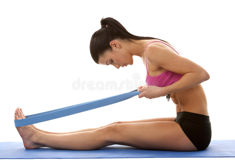 Download Fitness woman stretching stock photo. Image of happy - 28021068