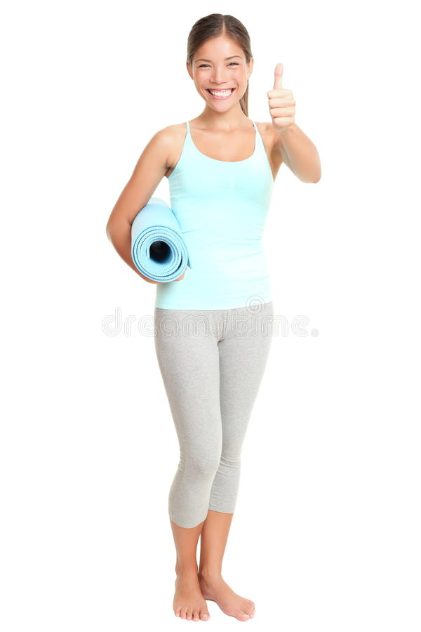 Fitness woman success royalty free stock image