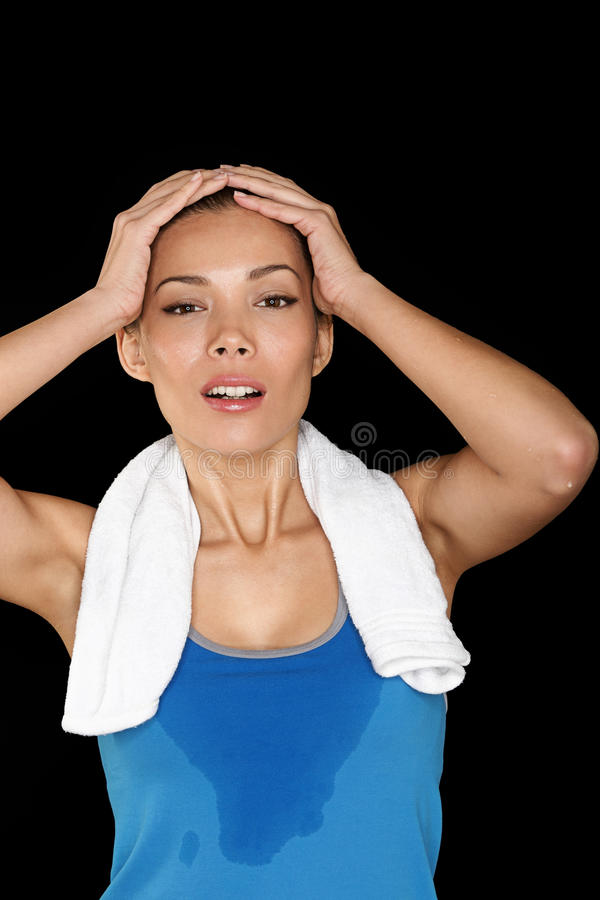Download Fitness woman sweating stock image. Image of beauty, chinese - 29720493