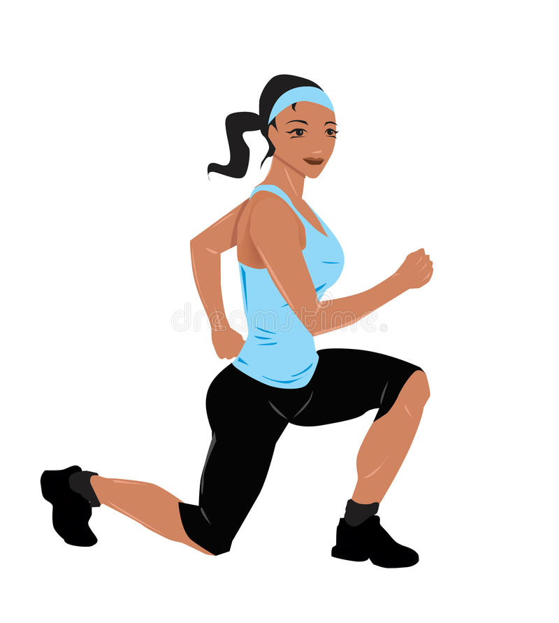 Fitness women exercise stock illustration
