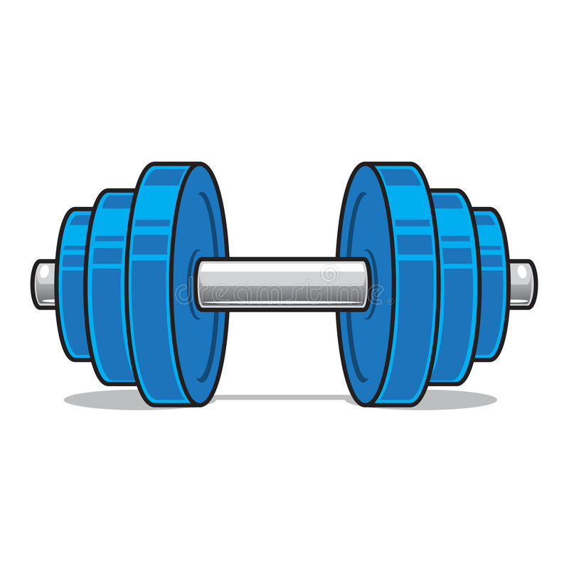 Fitness Workout Dumbbell Isolated On White. Stock Vector