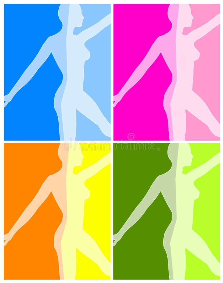 Fitness Yoga or Dance Backgrounds royalty free illustration