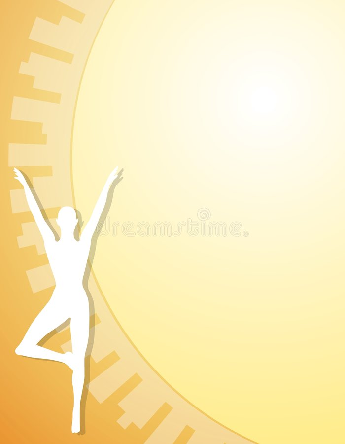 Fitness Yoga Figure Background 2 vector illustration