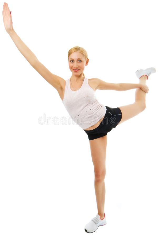 Fitness Young Woman Stock Image