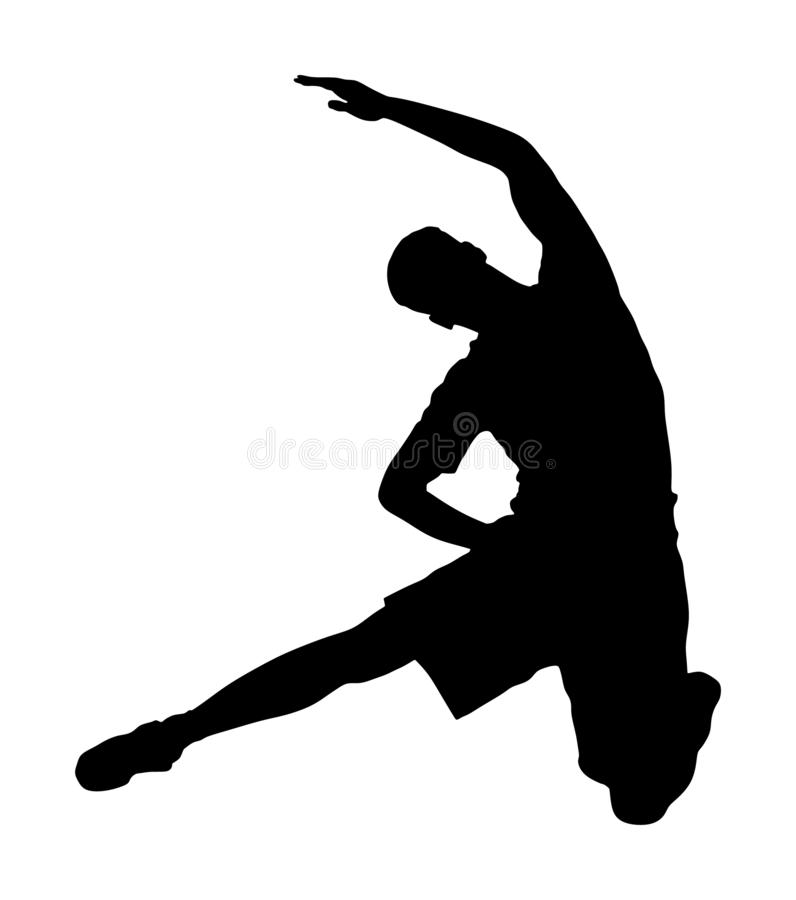 Fitnesslehrer trainieren im Fitnessstudio Silhouette Gewichtsabnahme, Bodybuilder Personal Trainer vektor abbildung