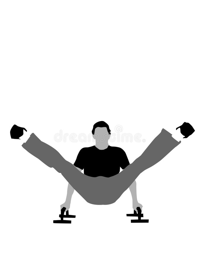 fitnessman pomoc target1697_0_ pchnięcie podnosi ilustracji
