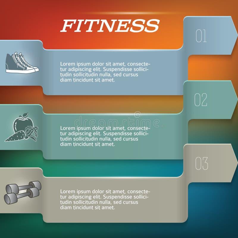 Fitnesss_backgroup-template-page-newsletter royaltyfri illustrationer