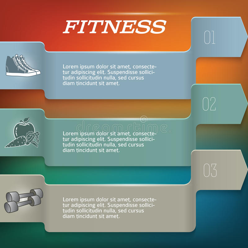 Fitnesss_backgroup-template-page-newsletter royalty-vrije illustratie