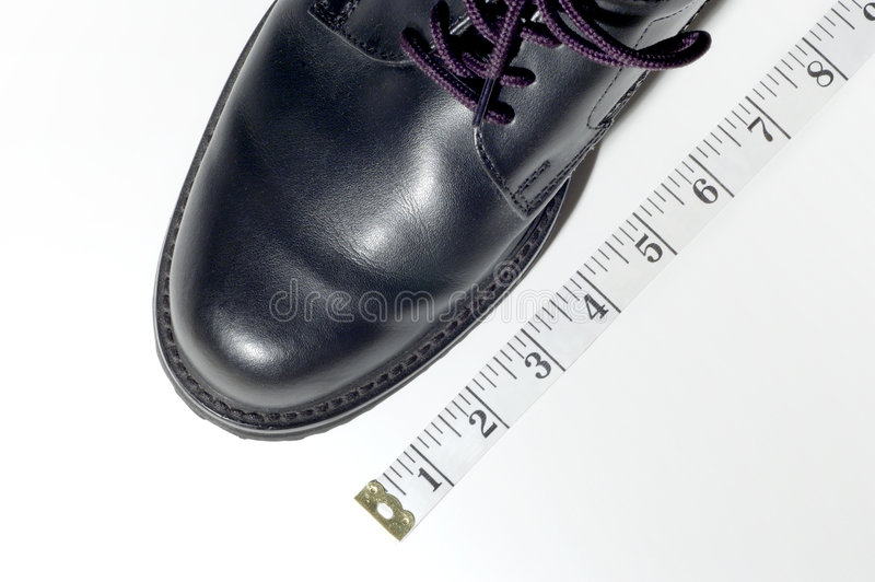 fits om sko arkivfoton