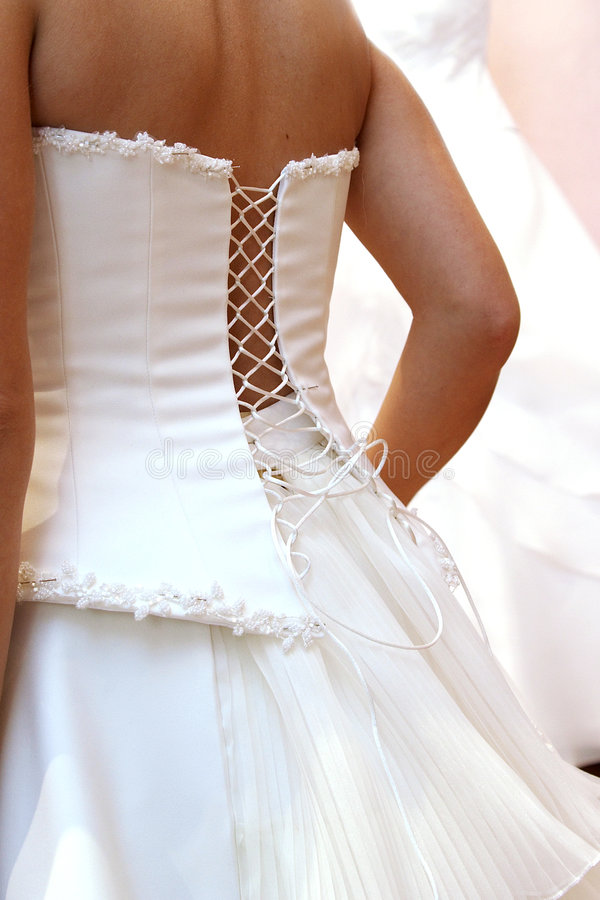 Fitting Of Wedding Dress Stock Images