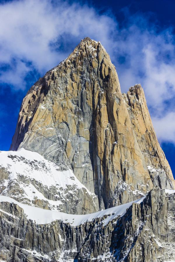 Fitz Roy amazing views inside the Argentina Patagonia royalty free stock image