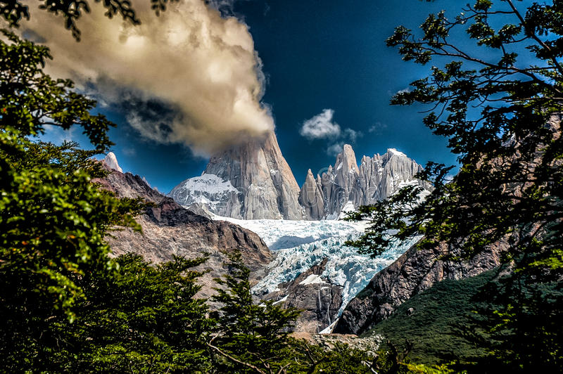 Fitz Roy en Torres del Paine photographie stock