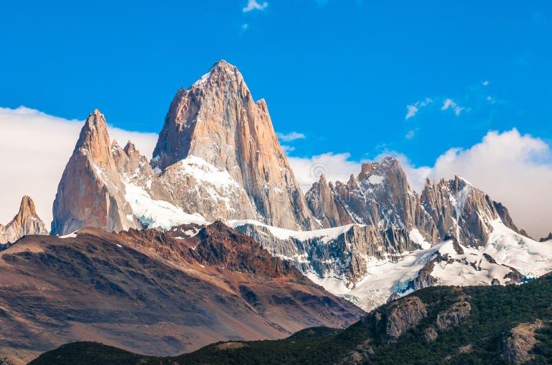 Fitz Roy góra, El Chalten, Patagonia, Argentyna obraz stock