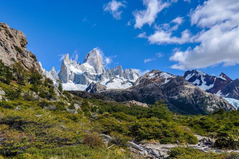 Fitz Roy szczyty, El Chalten, Argentyna, El Chalten, Argentyna zdjęcia stock