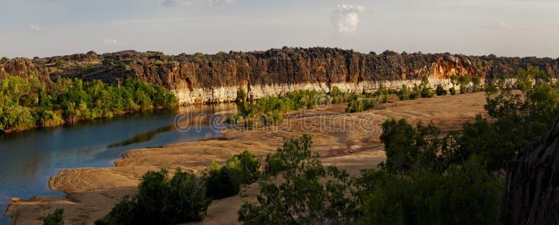 Fitzroy劈裂和Geikie峡谷 免版税库存照片